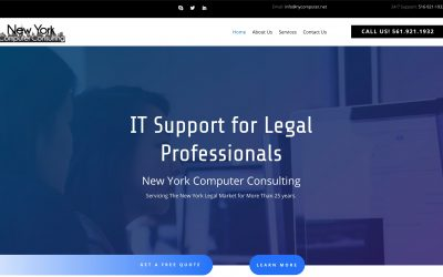 Small Business IT Support Business Website