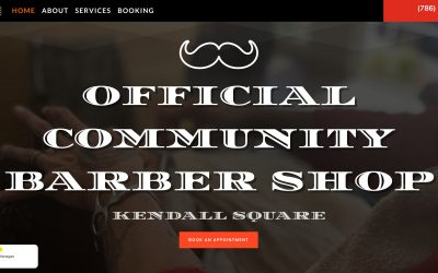 Barbershop Small Business Website